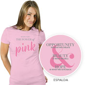 Camiseta Power of Pink