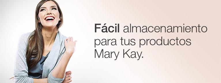 Fácil almacenamiento para todos tus productos Mary Kay